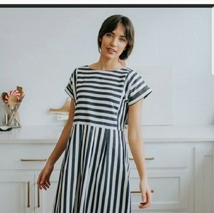 Clad and cloth stripped dress